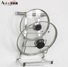 stainless steel kitchen pot lid display rack & shelf with sink
