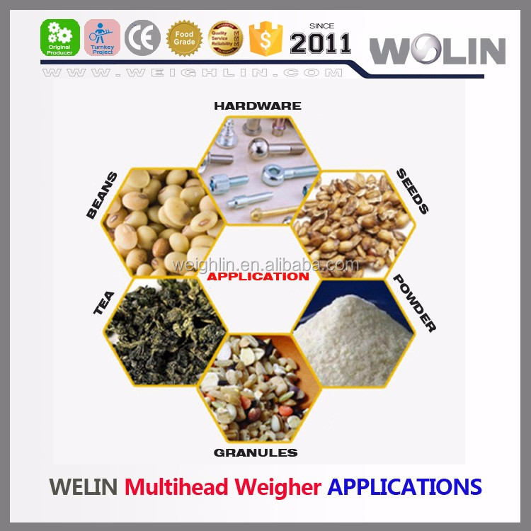 Auto Full jar bottle can filling weigh sealing capping label packing line system granules, seeds, rice, nuts or beans, etc.