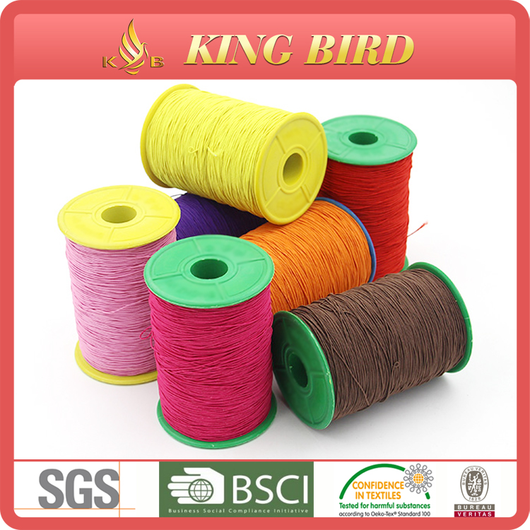 Rubber elastic thread for sock and glove latex rubber elastic thread for knitting rubber elastic color thread