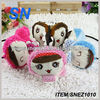 women's Winter heated Earmuffs Earwarmers Ear Muffs Earlap Warmer Headband Cute Redwith ear mff fur fox fur