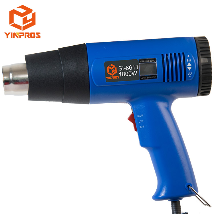 Power Tools Temperature Adjustable LCD Digital Thermostat Electric Heat Gun Industrial Hot Air Bower Heat Gun Seal Plastic