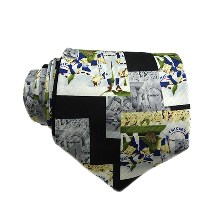 wholesale custom man digital print silk <strong>tie</strong> manufacture