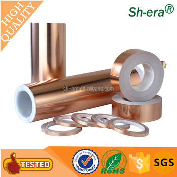 best selling single or double conductive copper foil tape for shielding by China supplier.