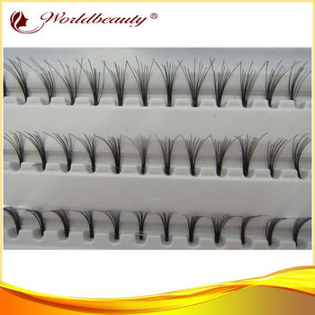 hot premium eyelash extension individual lashes fiber synthetic eyelash extender black color mink flare eyelash