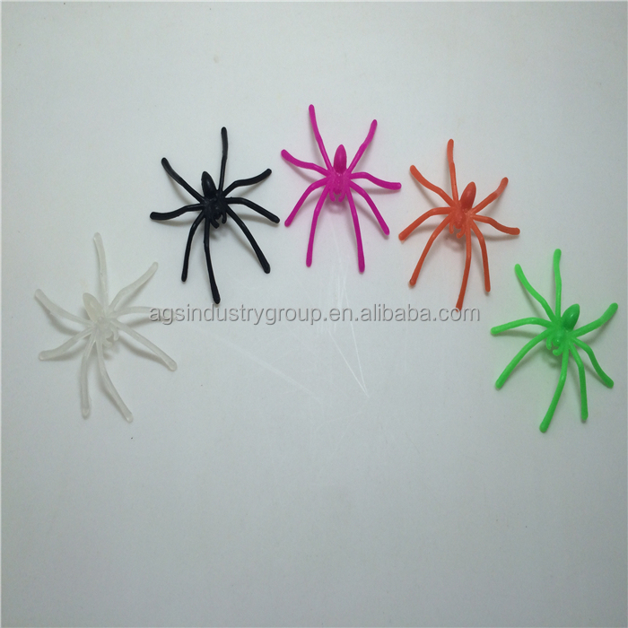 Multi-color Long Leg Spider Insect Toy-white, black, green, blue, purple,etc
