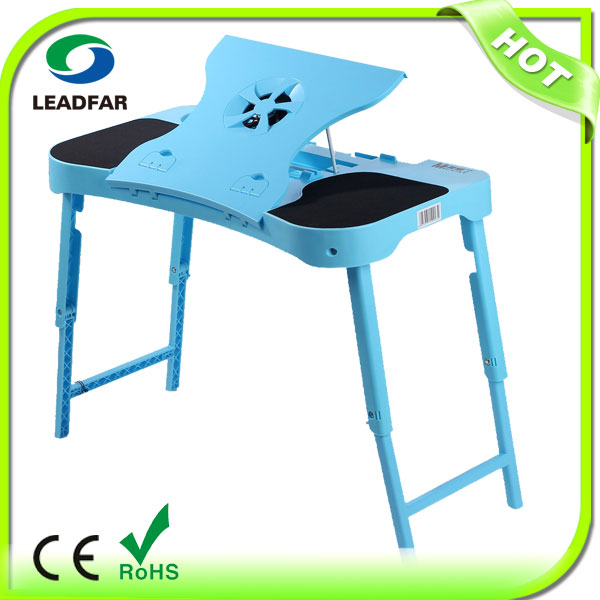 NBT32 portable folding walmart laptop desk with usb fan