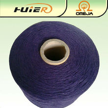 Dyed recycled cotton mix viscose blend knitting yarn manufacturer