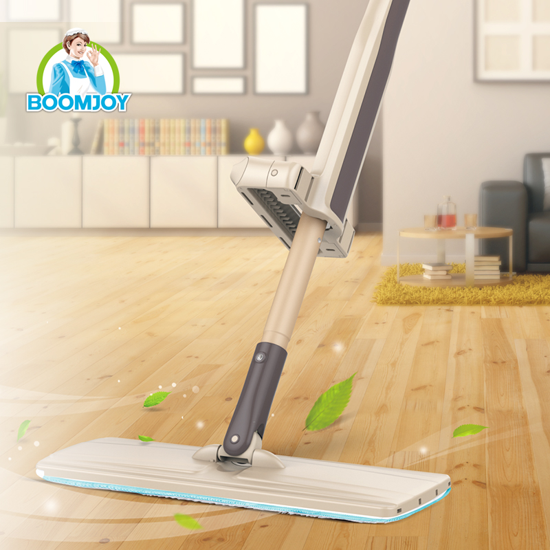 Boomjoy cleaning products 360 twist magic microfiber floor cleaning flat mop