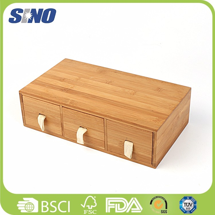 Eco-friendly Totally Bamboo square Salt Box