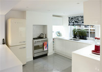 Painting white high gloss UV kitchen cabinet