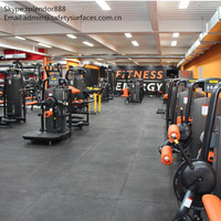 interlocking rubber flooring tile for fitness gyms room