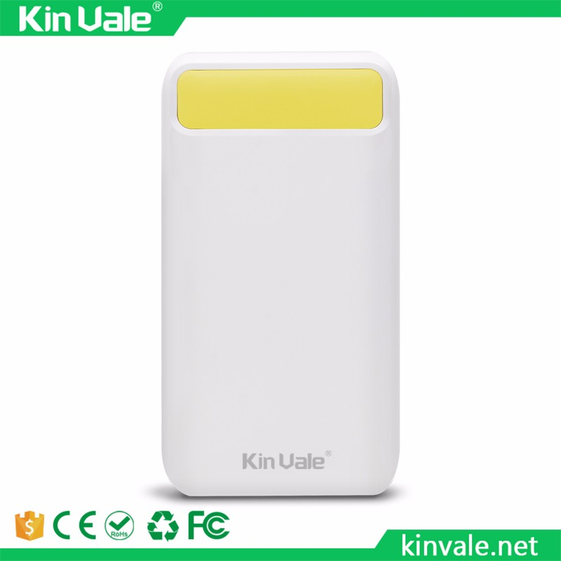Ultra-thin Mobile Power Bank 10000 mAh metal case led light USB External Backup Battery Portable universal Phone charger
