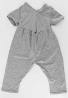 Custom wholesale cotton newborn baby romper baby suit adult pajama one piece grey baby clothes