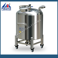 100-1000L FLK stainless steel diesel skid tank with rollers for sale