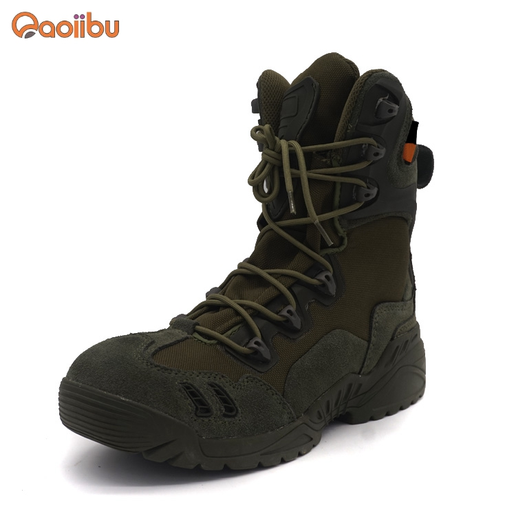 custom quality Suede Leather Tactical Shoes Mens Combat Military army <strong>boots</strong>