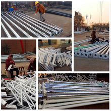 galvanized steel electric pole steel street light poles made in china