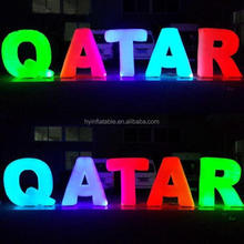 Party or advertising decoration large inflatable words inflatable outdoor light up letters