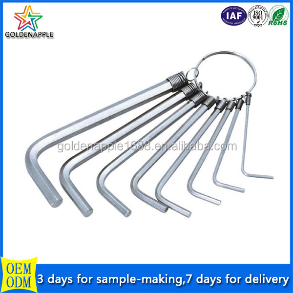 Stainless steel hex key ring wrench