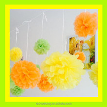 Paper Decorations 75cm Diameter Giant Tissue Paper Flowers Balls Factory Price