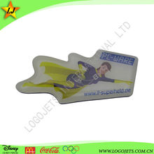 Guangzhou high quality antique shell printing and country city custom souvenir metal magnets for fridge