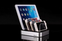 Four USB Charging Station & Organizer for Smartphones, Tablets Multiple Phone Charger Dock with Charging Status Indicator