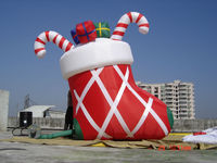 2014 custom giant christmas decoration inflatable christmas stocking