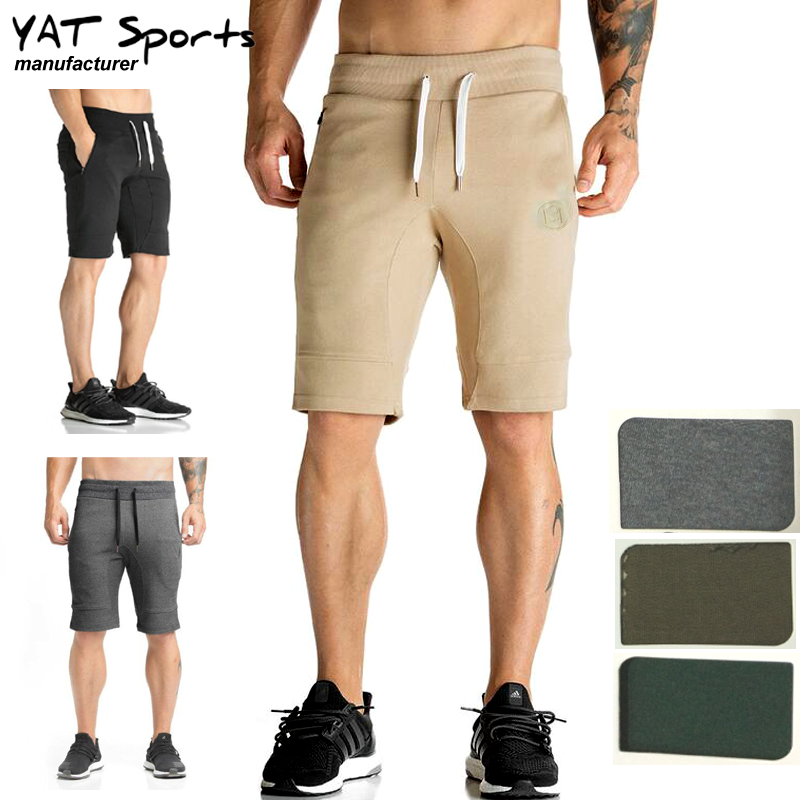 jogger sweat shorts 95% cotton 5% spandex custom logo workout fitness gym sports men sweat shorts