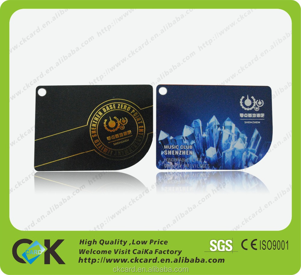 Eco-friendly pvc! Printing irregular shape business card from gold manufacture