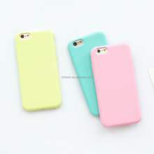 Custom Macarons Color TPU Silicone Frosted Matte Case for iPhone 6 6S 5 5S SE 8 Plus X Soft Back Cover for iPhone 7 7Plus