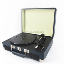 SW-204 portable USB MP3 suitcase turntable , bluetooth connection turntable player 2015