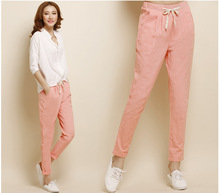 2017 spring summer new female cotton loose cheap yoga S-2XL feet pencil casual Linen trousers pants