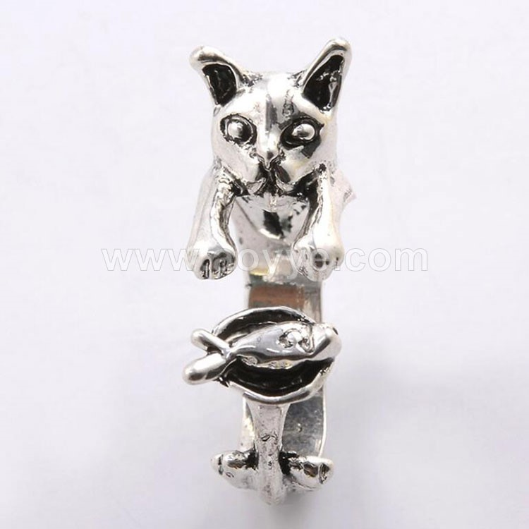 Manufacturer fashion designs jewelry latest cat finger ring for grils