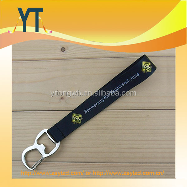 2015 Hot New Products Custom Printing Lanyard With Bottle Opener And Keychain