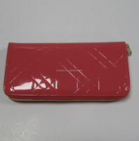 Custom ladies shiny leather wallet
