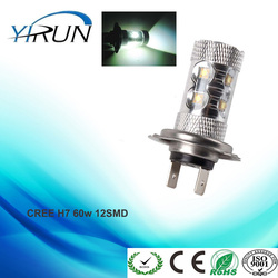 High Power H7 CREE60w LED Car fog running light bulbs