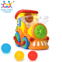 Huile baby educational electric car <strong>toys</strong> for kids train locomotive with throw ball game