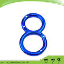 Fashion round carabiner double o ring carabiner in China