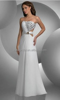 White chiffon diamond Sweetheart sexy backless long cheap chiffon prom dresses buy from china online shop/chiffon evening dresse