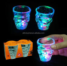 Halloween LED light up party supplies plastic skull cups halloween led flashing skull mug for sale