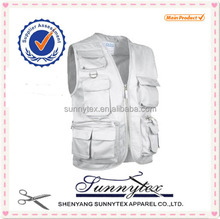 Alibaba Gold Supplier multi pocket fishing vest for Mens Photographer Safari Vests