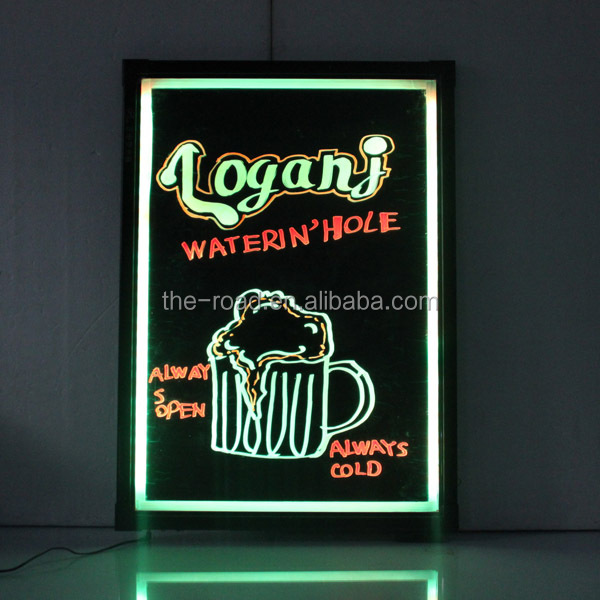 Acrylic Erasable neon led message menu sign writing board