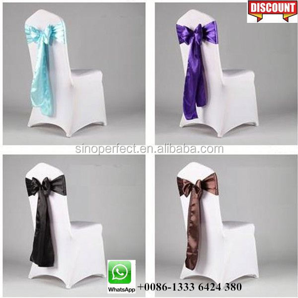 Foshan Guangzhou Quality lace wedding chair cover sash for wedding event