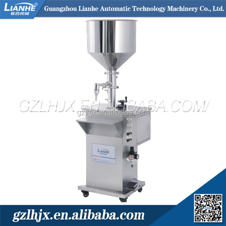 Vertical type pneumatic Liquid packing filling machine for high viscosity product