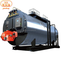 Energy Saving Fire Tube 1Ton -10Ton 10Bar WNS PLC Automaitc Industrial Gas Oil Diesel Fired Steam Boiler Price