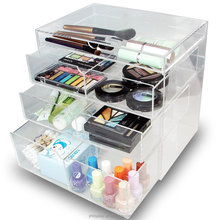 Acrylic Jewelry Storage Case Display Cosmetic Makeup Organizer Box with Drawer