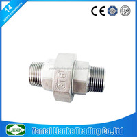 150# ss304 ss316l stainless steel pipe fitting BSP/NPT male/male thread Union 304