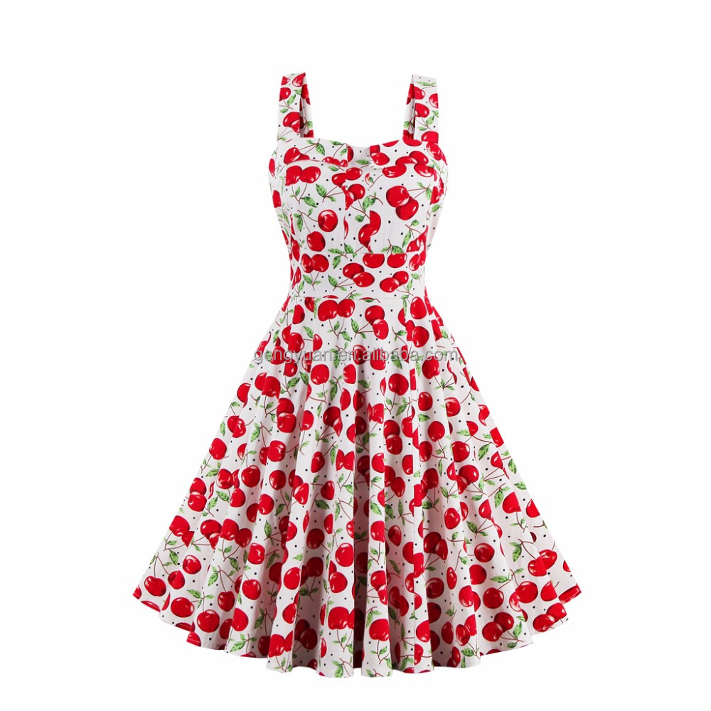 Swing Floral Pinup Short Long vintage dress