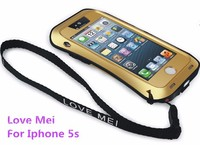 Luxury Love mei metal phone case for iphone 5s waterproof shockproof dirt proof