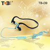 Hot brand high-performance cheap colorful stereo necklace earphones with mic for sport