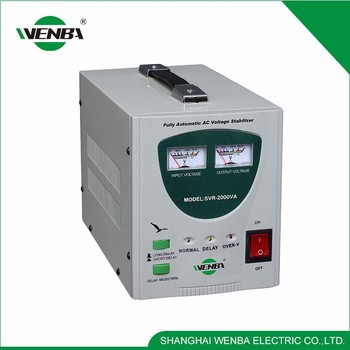 High Precision Relay 2000Va 220V Voltage Regulator For Light Industry